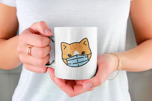 Чаша за кафе със стилни илюстрации на Котки-вар.15 -Безплатна доставка