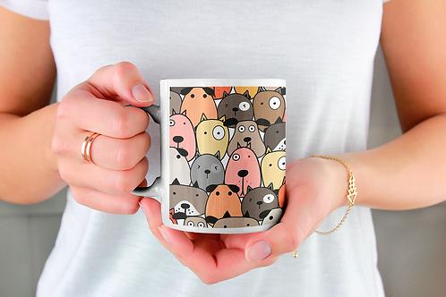 Чаша за кафе с илюстрации на кучета - вариант 23