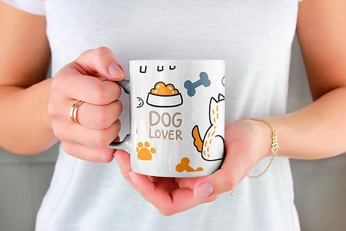 Стилна чаша за кафе с илюстрации на кучета - вариант 7 - Безплатна доста