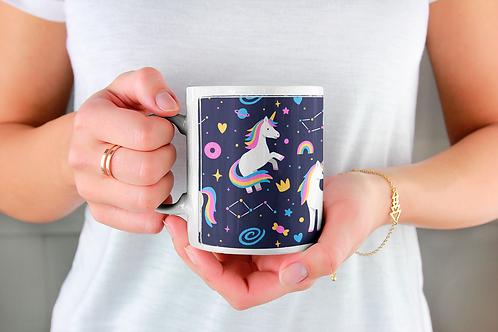 Стилна чаша за кафе с илюстрации на Еднорог-вар.22 -Безплатна доставка