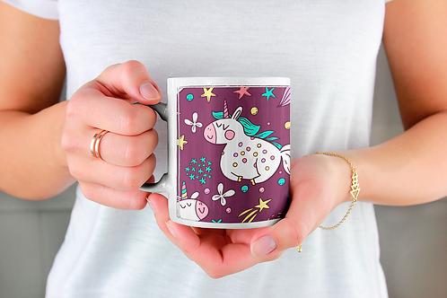 Стилна чаша за кафе с илюстрации на Еднорог-вар.26 -Безплатна доставка