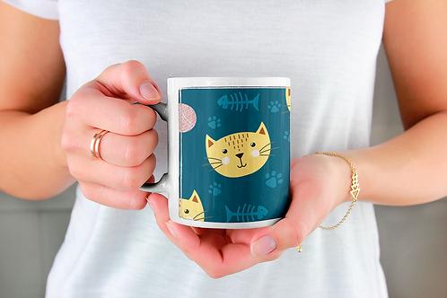 Стилна чаша за кафе с оригинални илюстрации на Риби - вар.19 -Безплатна доставка