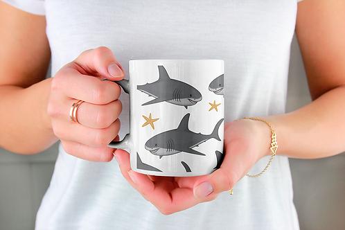 Стилна чаша за кафе с оригинални илюстрации на Риби - вар.19 -Безплатна