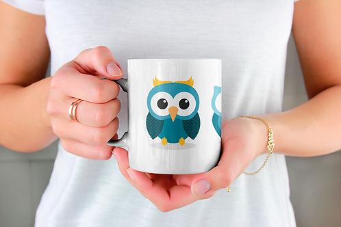 Стилна чаша за кафе с илюстрации на Бухал-вар.8 -Безплатна доставка