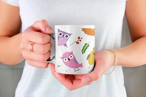 Стилна чаша за кафе с оригинални илюстрации на Птици - вар.5