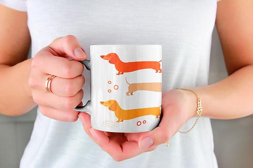 Чаша за кафе с илюстрации на кучета - вариант 32