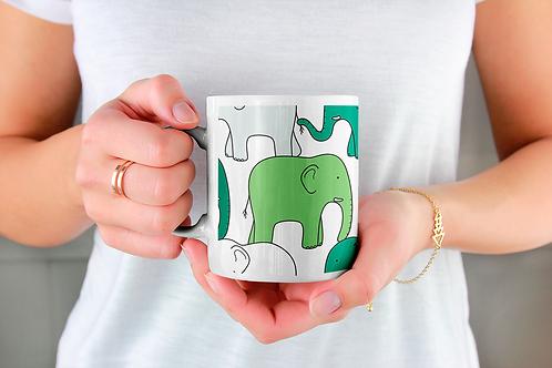 Чаша за кафе с илюстрации на Слончета - вариант 22