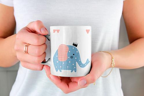 Чаша за кафе с илюстрации на Слончета - вариант 28