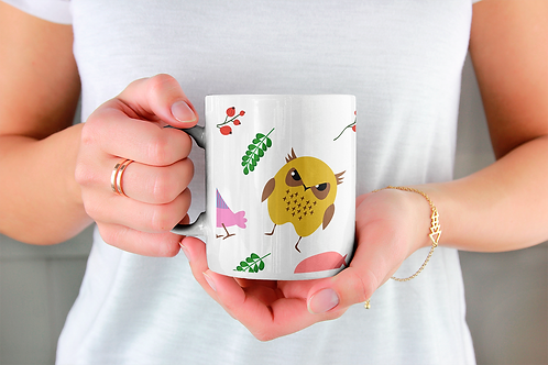 Стилна чаша за кафе с илюстрации на Бухал-вар.6