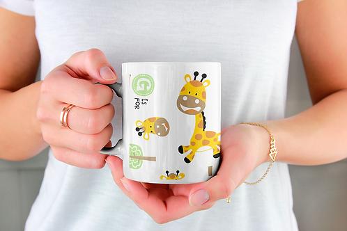 Чаша за кафе със стилни илюстрации на Жирафи-вар.14 -Безплатна доставка