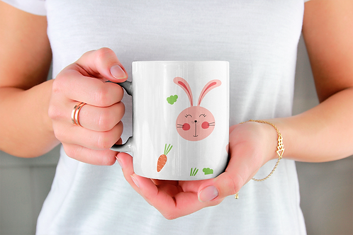 Стилна чаша за кафе с илюстрации на Зайци-вар.12