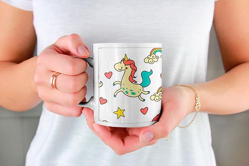 Стилна чаша за кафе с илюстрации на Еднорог-вар.15 -Безплатна доставка