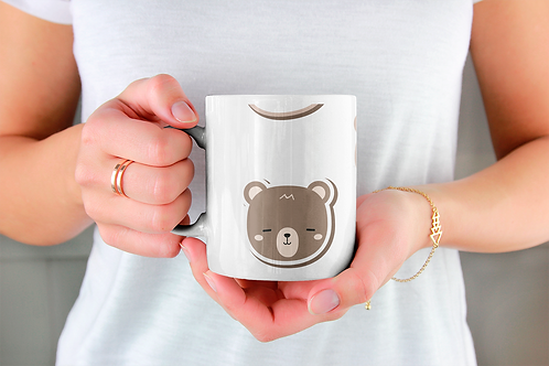 Стилна чаша за кафе с илюстрации на Мечки-вар.2 -Безплатна доставка