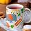 Thumbnail: Чаша за кафе със стилни илюстрации на Жирафи-вар.18