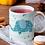 Thumbnail: Чаша за кафе с илюстрации на Слончета - вариант 13