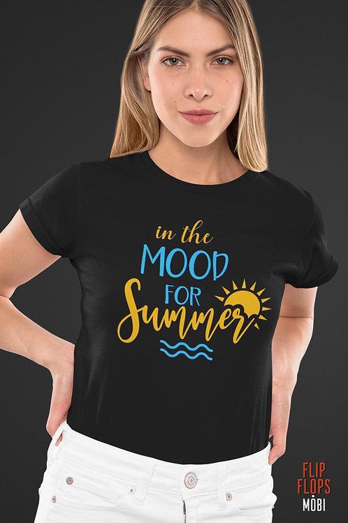 Черна тениска - In The Mood For Summer - Безплатна доставка