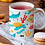 Thumbnail: Стилна чаша за кафе с оригинални илюстрации на Риби - вар.1