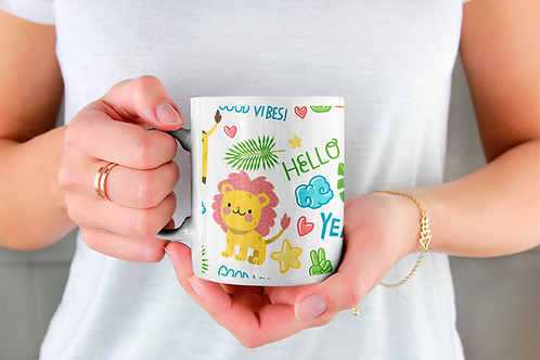 Чаша за кафе със стилни илюстрации на Жирафи-вар.11 -Безплатна доставка
