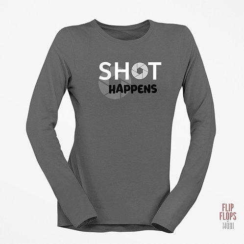 Стилна тениска с дълъг ръкав - Shot Happens