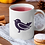Thumbnail: Стилна чаша за кафе с оригинални илюстрации на Птици - вар.25