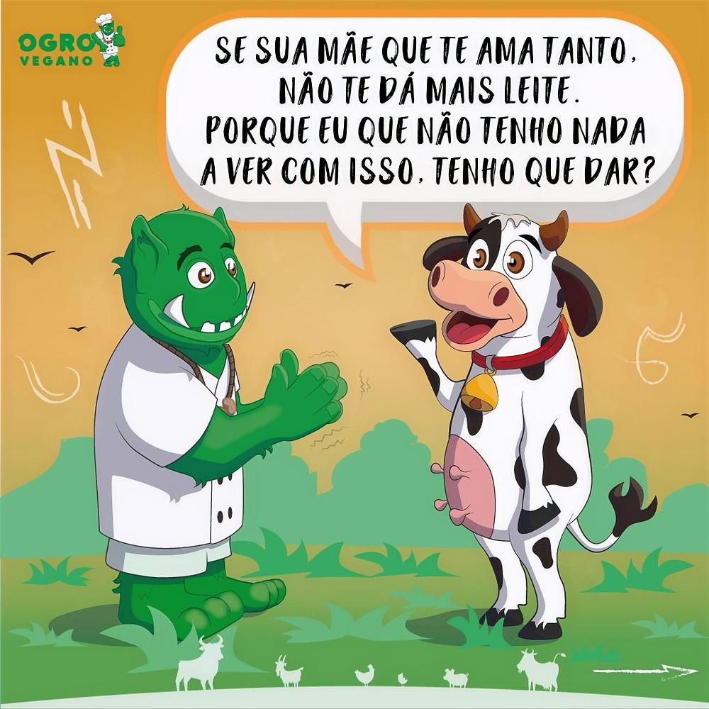 Vaca reclama de ter que dar leite aos humanos