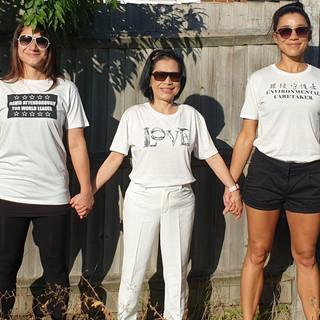Nissim Ladies wearing SLOGAN Tees.jpg