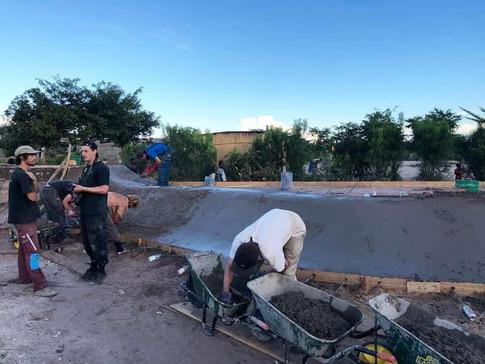 Mongu's skatepark under construction