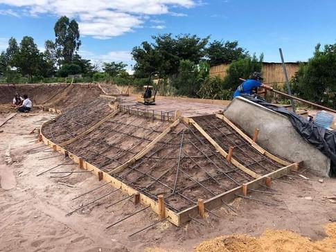 Skatepark under construction in Mongu, Zambia