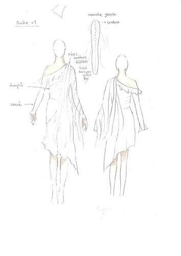 Le dessin de la robe