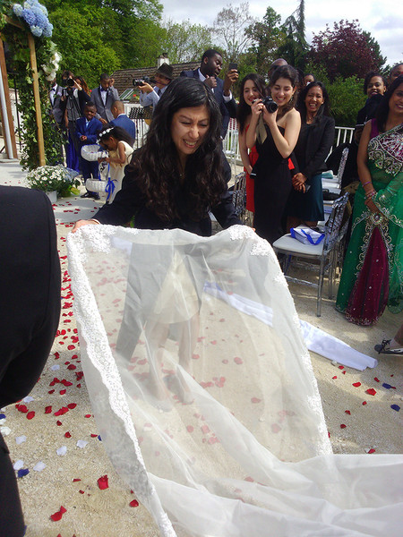 La cérémonie - l'entrée de la mariée