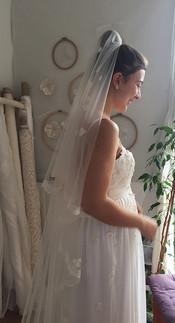 Voile de mariée avec peigne