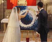Peinture pendant la cérémonie