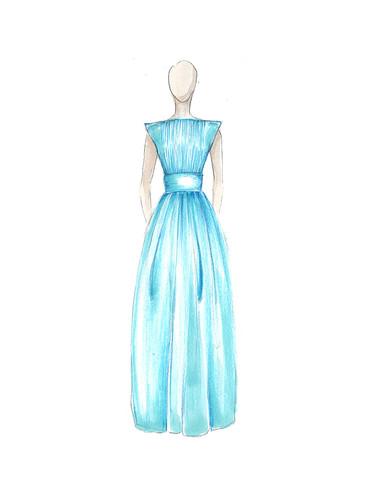 Dessin de la robe 1