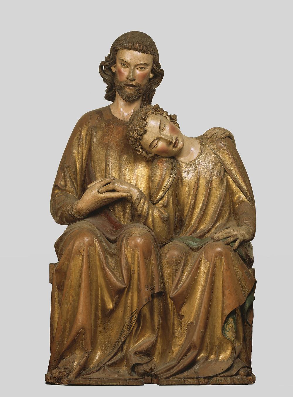 Christus und Johannes als Skulptur