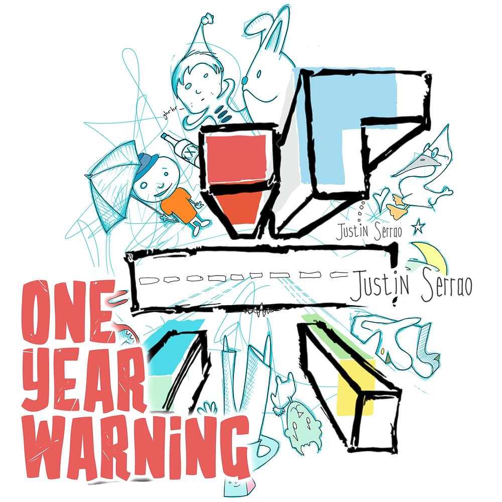 "Cover art for Justin Serrao's EP ""One Year Warning""; Art by Heinrich Pelser"
