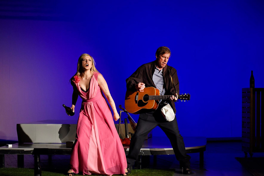 Linnea George and Tim Lee in Midsummer: A Play with Songs BY DAVID GREIG AND GORDON MCINTYRE.