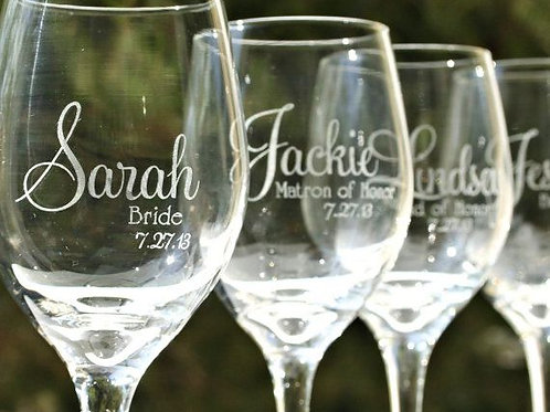 Personalized Wine Glasses-Pair
