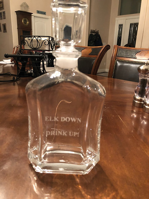 Engraved Glass Flask