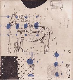アンティークな木馬 12.5x12cm
