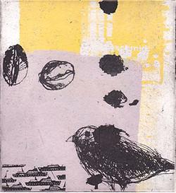 冬の雀 12.5x12cm