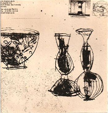 青色の花瓶