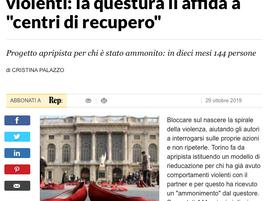 La Repubblica - Torino rieduca stalker e uomini violenti: la questura li affida a centri di recupero