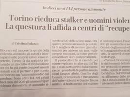 La Stampa - Torino rieduca stalker e uomini violenti