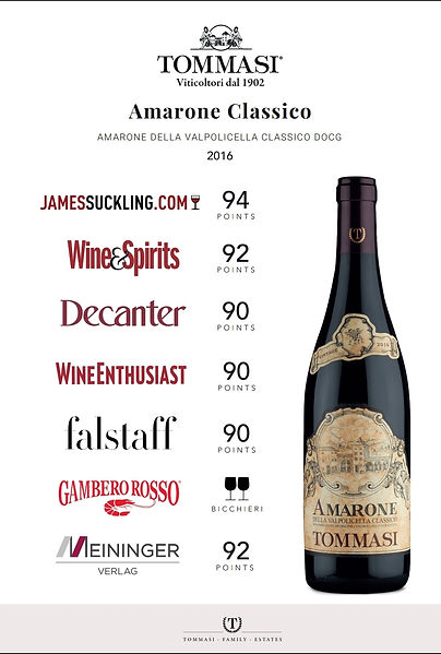 Founded in 1902, Tommasi has grown to be the largest family-owned vineyard estate in Valpolicella Classico. J & D Burleigh, as the official Importer for Tommasi in Singapore, is pleased to offer the Estate's most prestigious wine of the Valpolicella, the opulent Amarone, which is one of Italy's top wines.