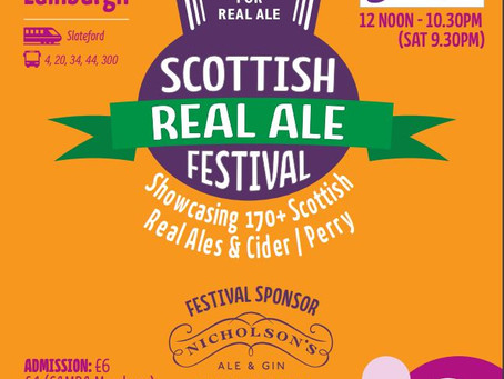 Come try us at the Scottish Real Ale Festival 2018