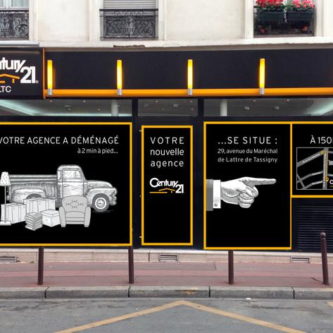 Vitrine Century21 Paris