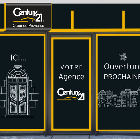 Vitrine Century21 Cavaillon