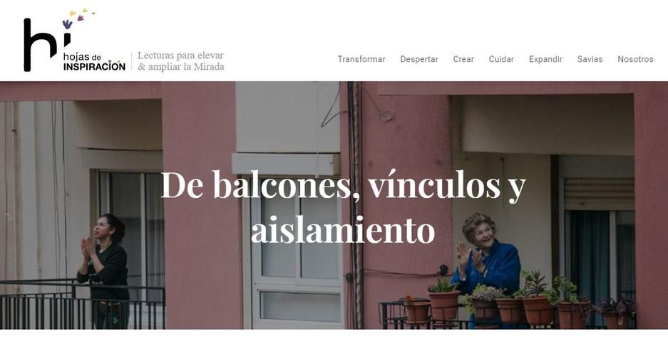 De balcones, vínculos y aislamiento