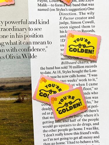 Golden Stamp Sticker