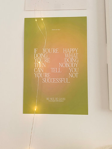 11x17 If You're Happy Poster